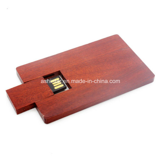 Swivel USB Memory Flash Pendrive USB Stick Wood Card USB Flash Drive pictures & photos