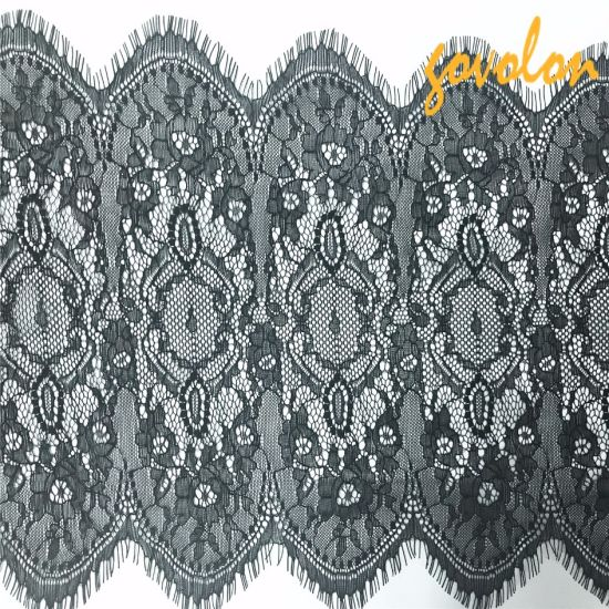 New Arrival Eyelash Lace Fabric 27cm