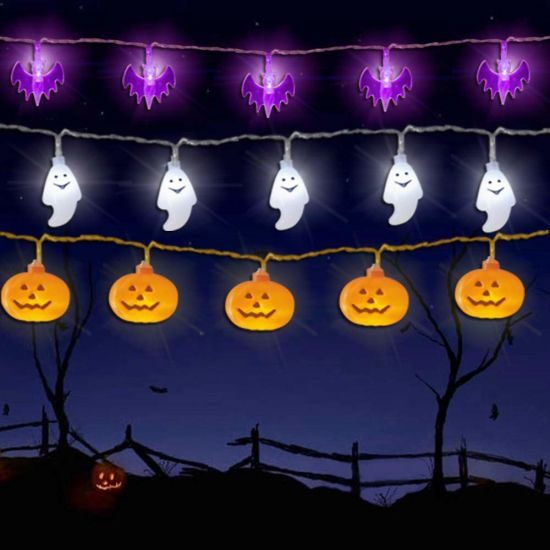 Halloween Lights Battery Operated Halloween Decorations String Lights for Outdoor and Indoor - Halloween Ghost Lights