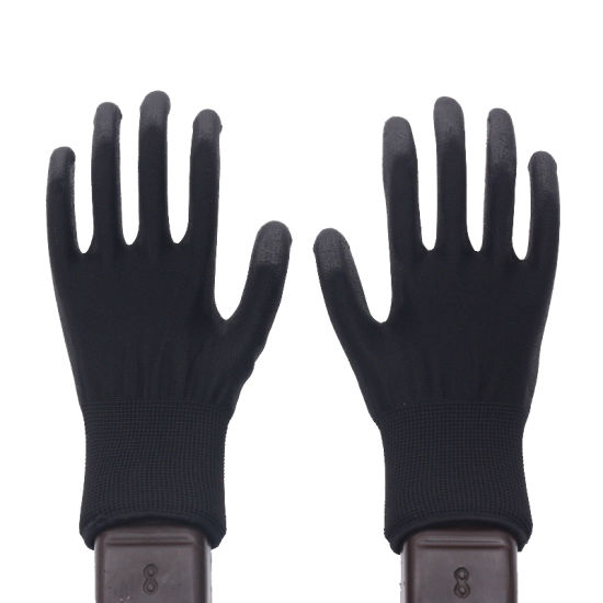 Palm PU Coated 13G Polyester Liner Anti-Static Electronic Safety Working Gloves