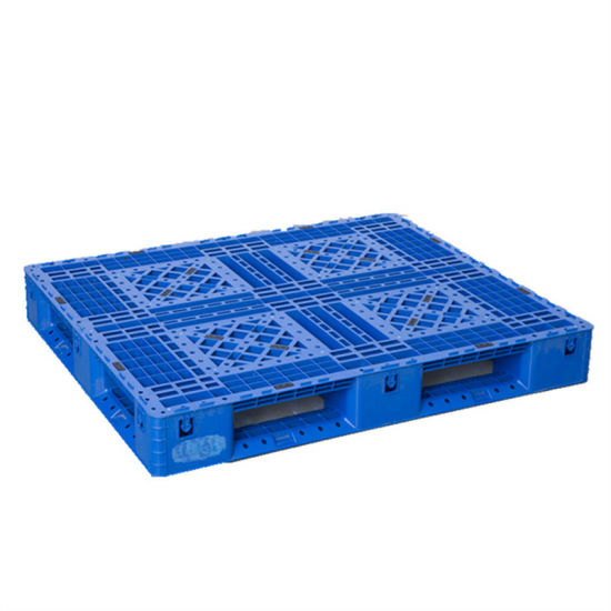 Warehouse and Supermarket Used Double Side Pallet Plastic Cargo Pallet pictures & photos