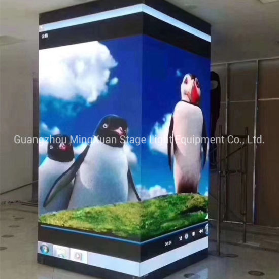 New Design Full Color HD P3.91 Outdoor Advertising LED Display Cube Screen