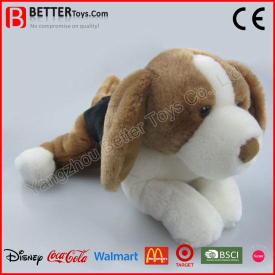 China En71 Lifelike Stuffed Animal Dog Soft Basset Hound Plush Toy