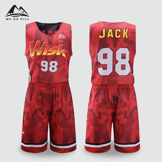 China Red Green Color Design Custom Women Reversible Basketball