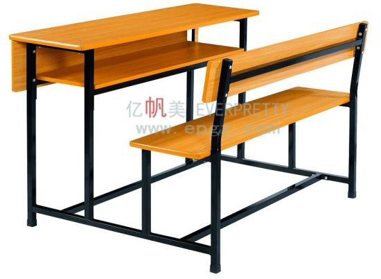 Incredible Factory School Furniture Double Desk With Bench For Students Caraccident5 Cool Chair Designs And Ideas Caraccident5Info