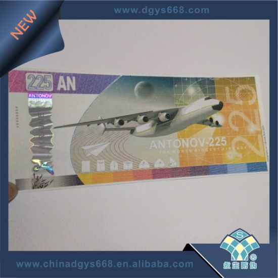 Safety Line Embossing Foil Ticket