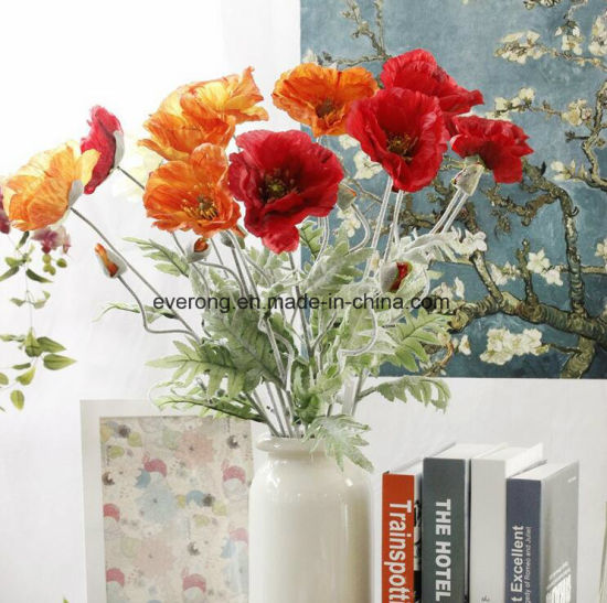 China artificial simulation flower poppy flowers for decora artificial simulation flower poppy flowers for decora artificial poppy garland artificial red poppy flower mightylinksfo