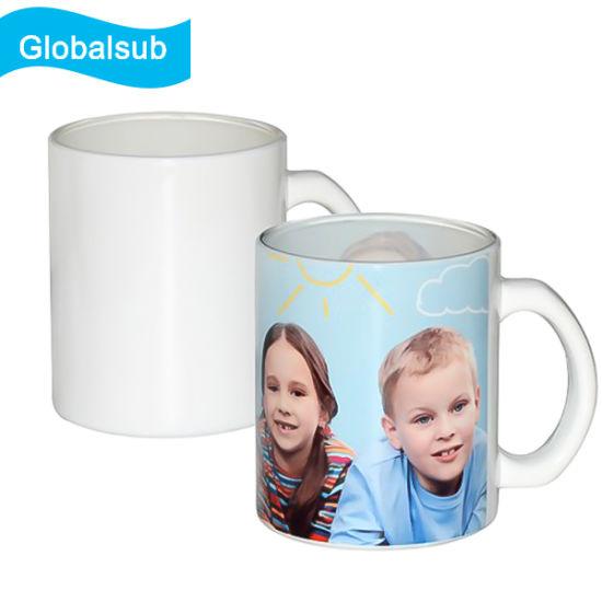 10oz Blank Coated Sublimation Heat Transfer Glass Mug