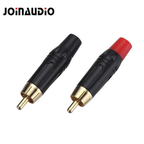 RCA Male Connector Audio Male Connector Black Color (R-045)