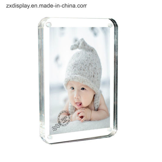 Safe Round Corner Clear Magnetic Acrylic Photo Frame