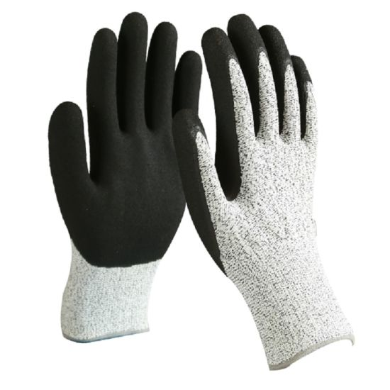 Anti-Cut Work Gloves with Nitrile Coating