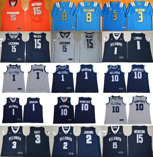 [Hot Item] Wholesale Cheap Customized Syracuse Orange Ucla Bruins Uconn Huskies Villanova Wildcats Ncaa College Jerseys