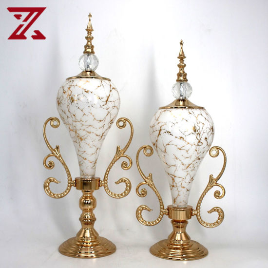 New Style European American Style Metal Golden Home Table Decoration Luxury Accessories
