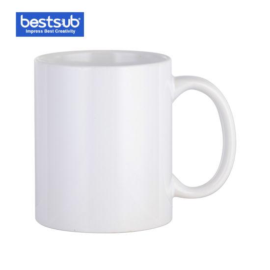 Bestsub 11 Oz White Photo Ceramic Coffee Mug Sublimation Heat Press Mugs  330ml