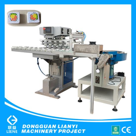 Toy Wood Bricks Six Color Conveyor Tampo Printing Machine
