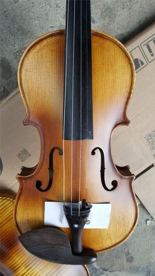 Old Solidwood Violin with Free Violin Case, Violin Bow, Rosin
