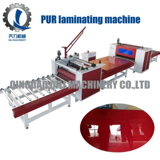 Automatic Paper/ PVC Film/ Acrylic PUR Hot Melt Glue Laminating Machine Sticking Machine Woodworking Machine