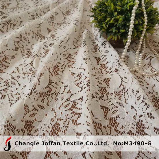 Fashion Cord Lace Fabric Cotton Lace Embroidery Fabric (M3490-G)
