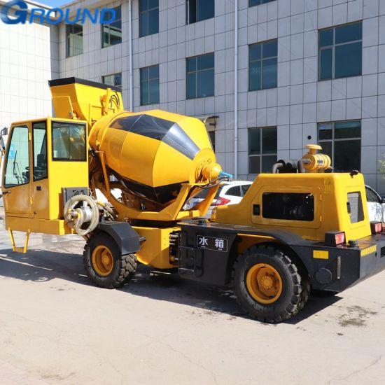 Self-loading convenient concrete cement mixer loader truck for construction