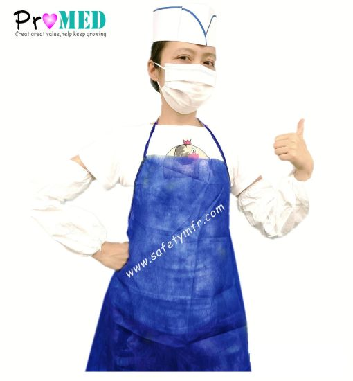 Medical/Surgical/Industry/Kitchen/Restaurant/Cooking/dental/Printed/Nonwoven/PP/Poly/PVC/SMS/PE/Plastic/Set/Protection Disposable Waterproof Apron pictures & photos