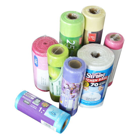 Heavy Duty HDPE /LDPE Plastic Flat Star Sealed Garbage Bag Trash Bags on Roll pictures & photos