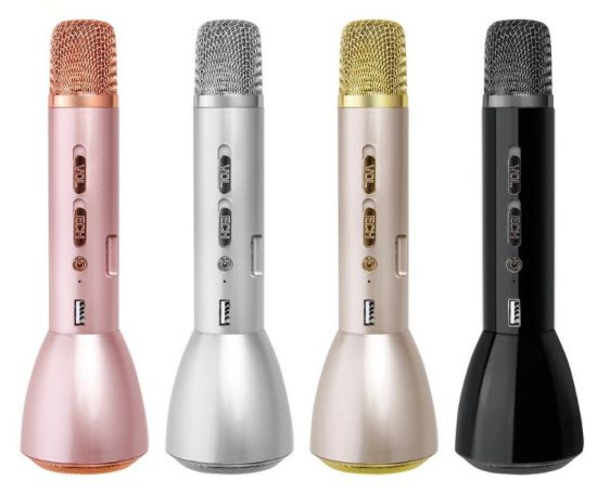 Bluetooth Mic Speaker Record Music Microphones Portable Wireless Bluetooth Karaoke Handheld Microphone Support for Apple Android