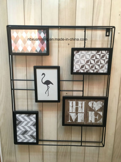 Customized Wholesale Metal Wall Shelf with Frames, Home Decor