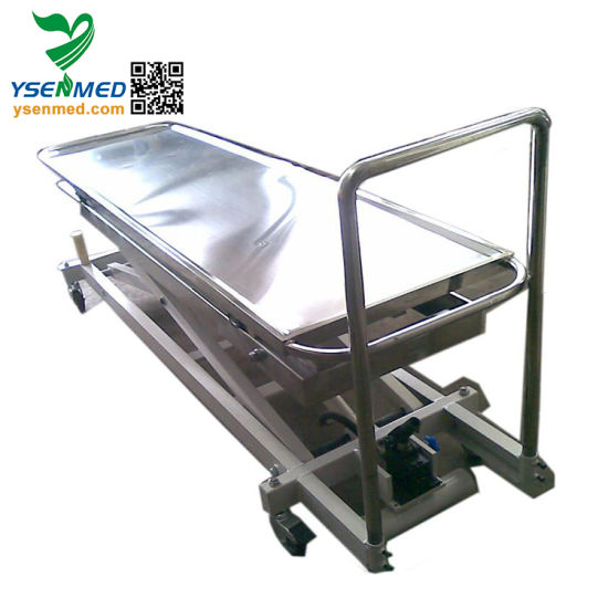 Yssjt-1c Hospital Medical Electric Elevating Table Mortuary Trolley pictures & photos