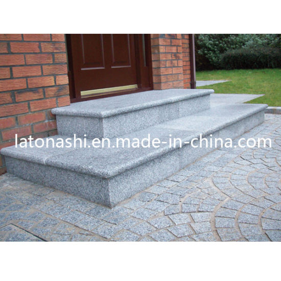 Cheap Anti Slip Granite Stone Stair Tread Step For Outdoor