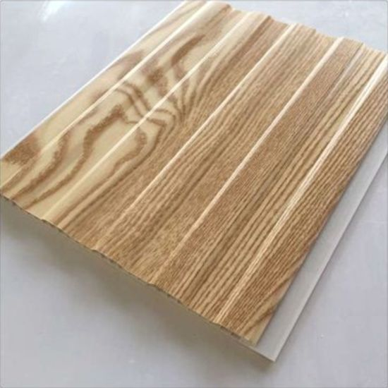 Wooden Colors Flat Lamination PVC Wall Panel Manufacturer pictures & photos