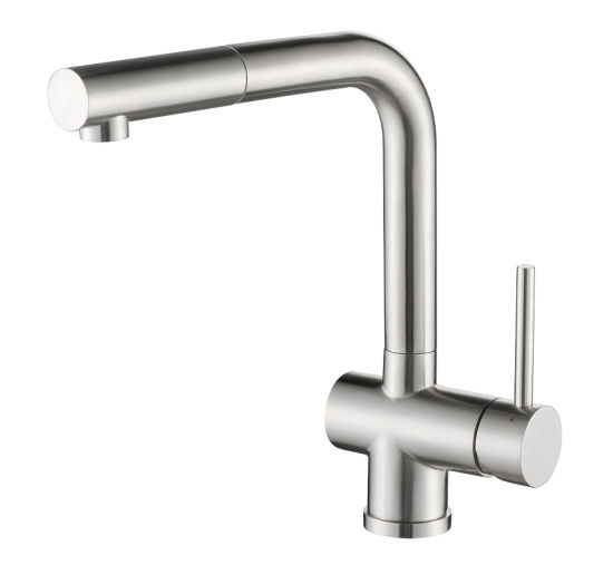 Stainless Steel Pull out Kitchen Faucet with Sedal Cartridge pictures & photos
