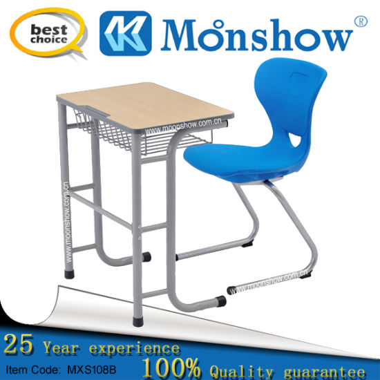 High School Student Desk with Plastic Chair From Moonshow School Furniture