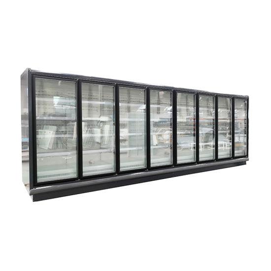 Upright Beverage Showcase Cooler Supermarket Equipment Freezer Glass Door Display Cabinet Refrigerator