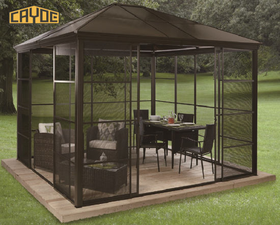 4X4 Chinese Wind Resistant Used for Sale Part Pop up Polycarbonate Tent  Pavilion Metal Aluminum Outdoor Wooden Garden Gazebo - 4X4 Chinese Wind Resistant Used For Sale Part Pop Up Polycarbonate