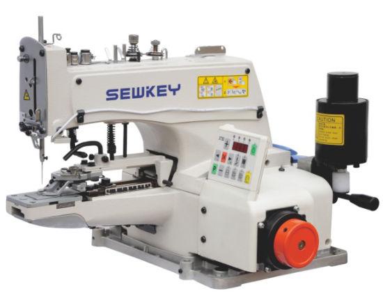 Sk1377D Direct Drive Single Thread Chainstitch Button Sewing Machine