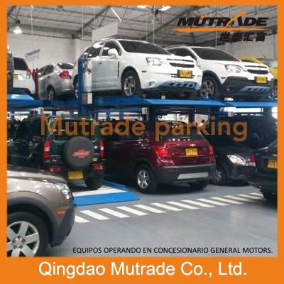 Hot Sale Ce Two Cars Hydraulic Heavy Car Lift