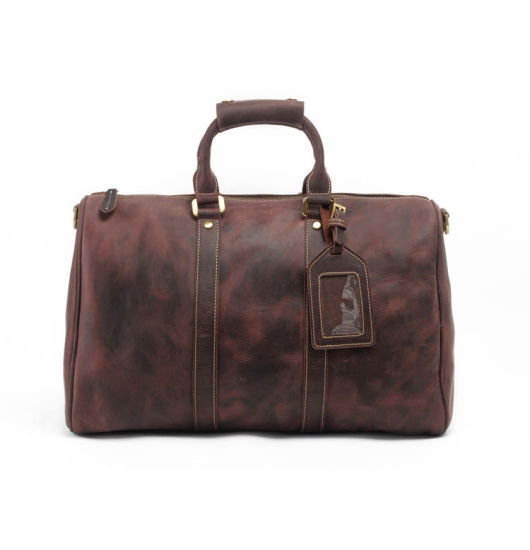 China Factory Good Quality Oversize Leather Travel Bag Duffle pictures & photos