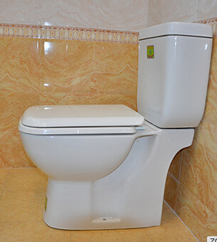Square Design Two Pieces Washdown Wc Toilet for Bathroom pictures & photos