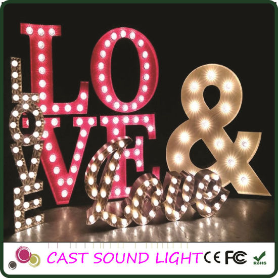 LED Letter Sign Wedding Decoration Lights pictures & photos