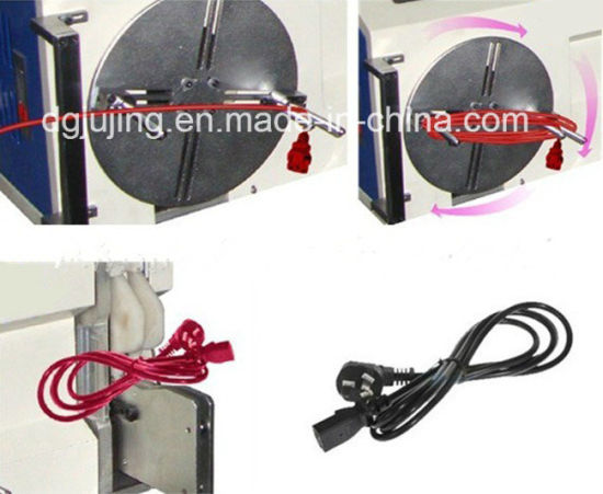 PLC Semi-Automatic Cable Wire Coiling Winding Machine pictures & photos
