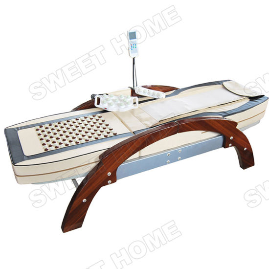 Full Body Thermal Jade Stone Massage Roller Bed