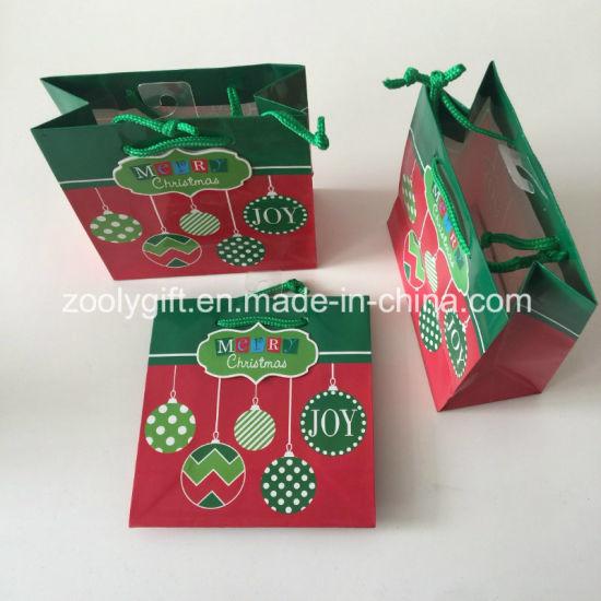 China Mini Christmas Printing Paper Gift Bag - China Paper Bag ...