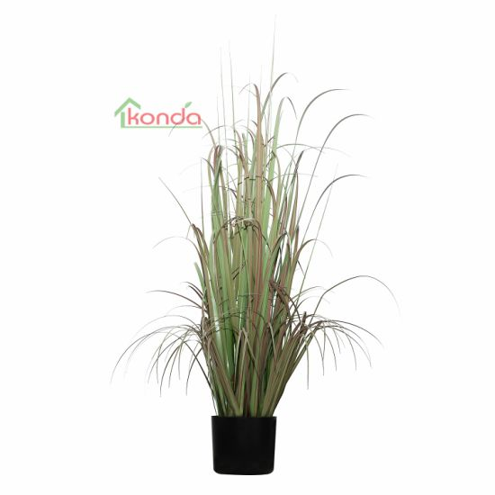 Home Decoration Wedding Ornament Plant Artificial Onion Grass in Pot