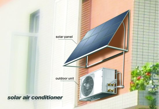 12000BTU Saving Power 90% Acdc on Grid Solar Panel Air Conditioner pictures & photos