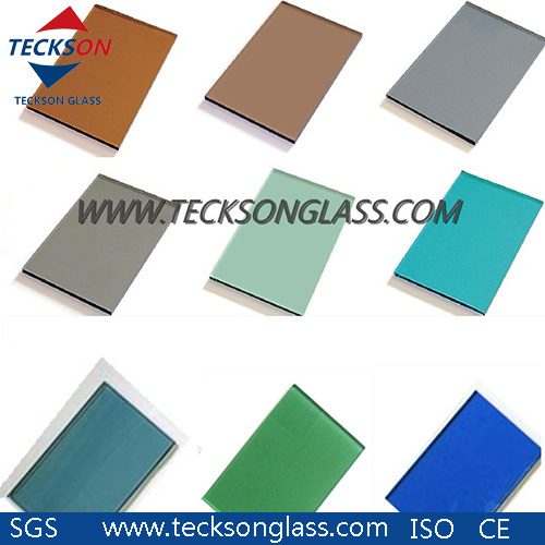 Clear Tinted Acid Etched Patterned Laminated Tempered Glass