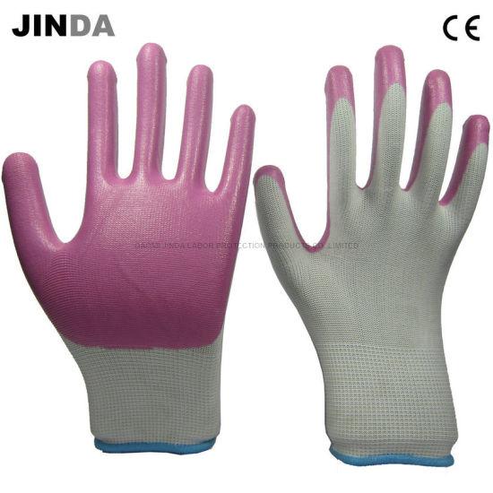 Ns020 Nitrile Nylon Work Gloves