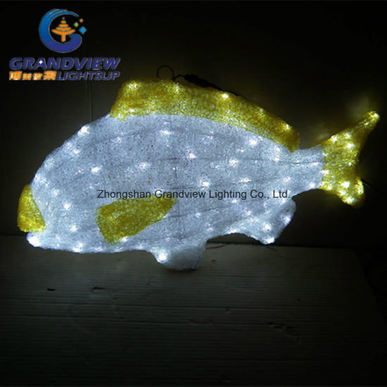 Acrylic Chirstmas Light Decoration Fish Design pictures & photos