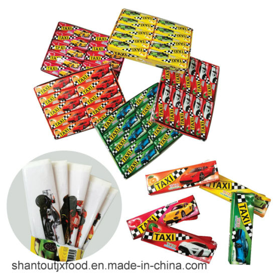Taxi 5 Fruit Flavors Chewing Gum with Tattoo