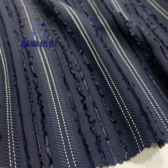 Ym9428 Striped Cut Flowers Polyester Viscose Fabric for Dress Blouse Garment pictures & photos