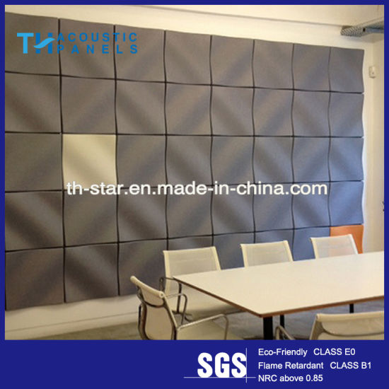 Water Proofing Polyester Fiber Interior Decorative 3D Sound Absorbing Panel  For Office/Meeting Room